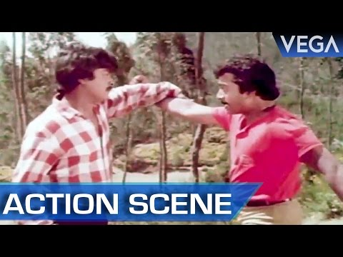 Murali Fights Jayashree's Brother || Kalamellam Un Madiyil Tamil Movie || Action Scene