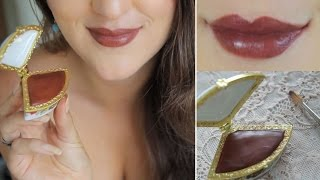 Homemade Natural lipstick - Mauve /Wine
