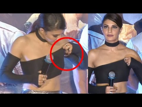 Jacqueline Fernandez Faces OOPS Moment at Dishoom Trailer Launch