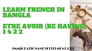 Learn French in Bangla with Abdullah Brooks Etre avoir (Be Having) 1 4 2 2