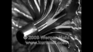 1 million fps Slow Motion video of bullet impacts made by Werner Mehl from Kurzzeit