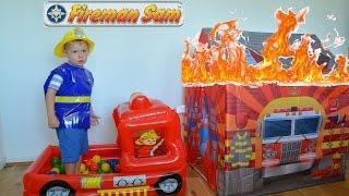 Fireman Sam HUGE Fire Rescue Fire engine Ball Pit Toys Feuerwehrmann Sam