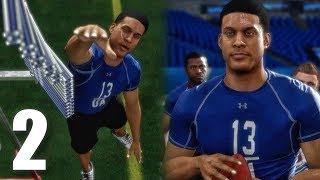 NFL COMBINE DRILLS! Madden 18 Longshot Gameplay Walkthrough Ep. 2