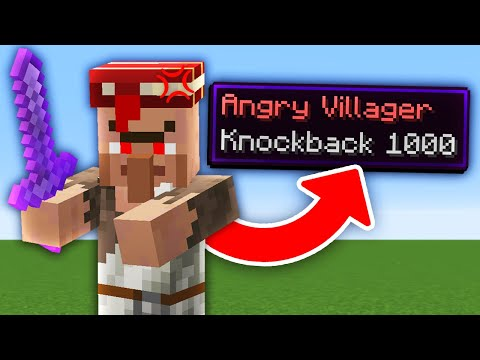 Minecraft But Every Mob Is Hostile With Knockback 1 000