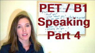 INGLÉS. PET / B1 Speaking. Part 4. Inglés para hablantes de español