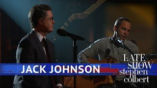 Jack Johnson and Stephen Colbert Perform 'Sleep Through the Static'