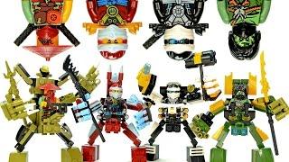 Ninjago Mechanical Nano Suits LEGO KnockOff Building Set 4 w/ Zane Nya Morro & Ronin