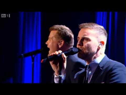 Gary Barlow & James Corden Pray Manchester Apollo