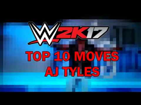 WWE 2K17 PS3 Top 10 Moves AJ Styles