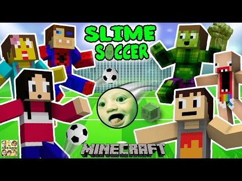 FGTEEV FAMILY SLIME SOCCER MATCH Super Fun Minecraft Game w Furby Crowd 6 Players
