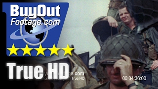HD Stock Footage WWII U.S. 7th Infantry Takes Kwajalein Island Color