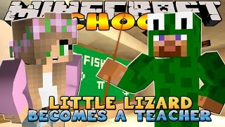 Minecraft School : Little Kelly - LITTLE LIZARD IS THE NEW TEACHER!