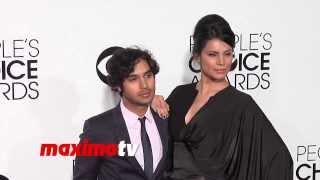 Kunal Nayyar and Neha Kapur People's Choice Awards 2014 - Red Carpet Arrivals
