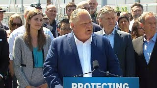 Doug Ford on pot sales, cancelling green programs