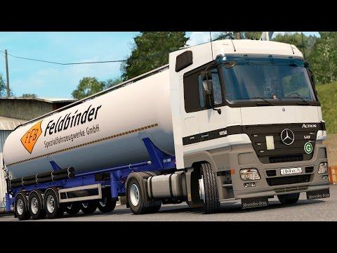 ETS 2 1.24 ProMods 2.03 Mercedes Benz Actros MP2 1850  Stuttgart - Nürnberg