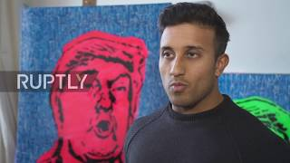 UK: Trump portrait made with human faeces presented in London