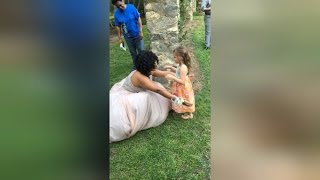 Little Girl Sees 17-Year-Old Teen in Prom Dress, Thinks She's a Real Princess