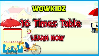 Musical tables - 16 Times Table - HD