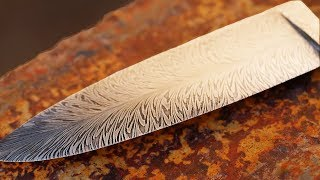 Forging Feather Damascus By Hand