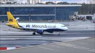 Gibraltar airport crosswind landings, go around /  aborted landings