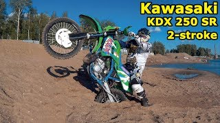 Kawasaki KDX 250 SR , обзор и тест-драйв. Kawasaki KDX 250 SR 2-stroke enduro, review & test drive.