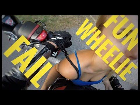 Fun with Girlfriend -MOTOVLOG #13 /Sestřih momentů ze sezóny / Wheelie /Fail / Nepoužité záběr