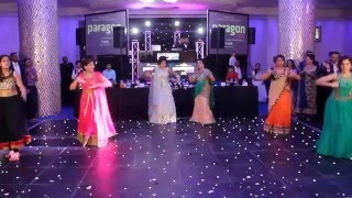 Best Surprise Indian Wedding Reception Family Dance kicked off by 2 talented young dhol players