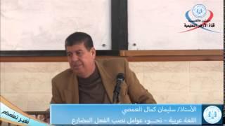 اللغة العربية، نحو، عوامل نصب الفعل المضارع