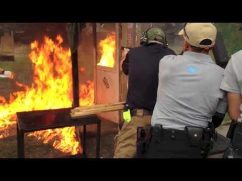 Gun Fight Fire - Combat n Rescue Event - UN Team 2 - IDPA Modified stage