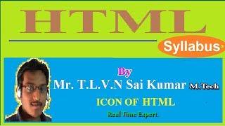 Video 1: HTML  Syllabus