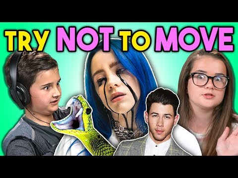 Kids React To Try Not To Move Challenge Billie Eilish Jump Scares Jonas Brothers