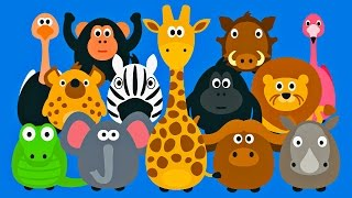 Learning Wild Animals for Kids - Teaching Animals Video for Toddlers - Stacking Tsum Tsum Style
