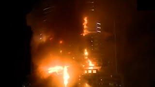 أوضح ما تم تصويره لحريق دبي 2016 بجودة HD