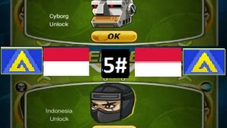 Head Soccer - How to Unlock Indonesia & Cyborg 5#