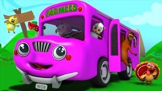 the wheels on the bus | nursery rhymes farmees | baby songs | 3d rhymes | kids rhymes