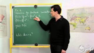 Fonctions dérivées - Exercice 1 - MATHS - TES spé Maths - Les Bons Profs