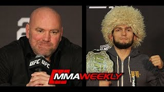 Dana White: Khabib Nurmagomedov Could Be Stripped of the Belt  (UFC 229)
