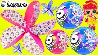 LOL Surprise Dolls + Lil Sisters Open 5 Layers Surprise Toys at McDonalds Drive Thru - Wave 2 Video