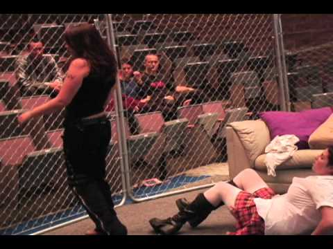 Emancipation 4 - Cage Match for wWc Women's Title - The Living Room Wars (April 2005)