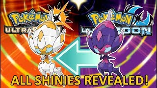 OFFICIAL USUM SHINIES REVEALED - New Legendaries, Ultra Beasts, & Forms - All Shinies Reviewed!