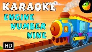 Engine Number Nine - Karaoke Version With Lyrics - Cartoon/Animated English Nursery Rhymes For Kids