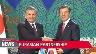Pres. Moon vows to expand economic cooperation with Uzbekistan