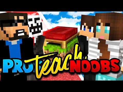 TEACHING MY SON AND WIFE HOW TO PLAY MINECRAFT BED WARS!!