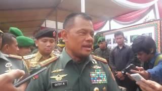Panglima TNI Jenderal Gatot Nurmantyo Kunjungi Korem 043/Gatam Lampung
