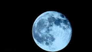 Beautiful Full Moon Rise through 900mm Telescope 4x timelapse V10189