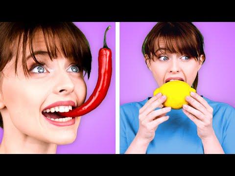 FAST MEDIUM or SLOW FOOD CHALLENGE Epic Food Battle & Taste Test by Kaboom