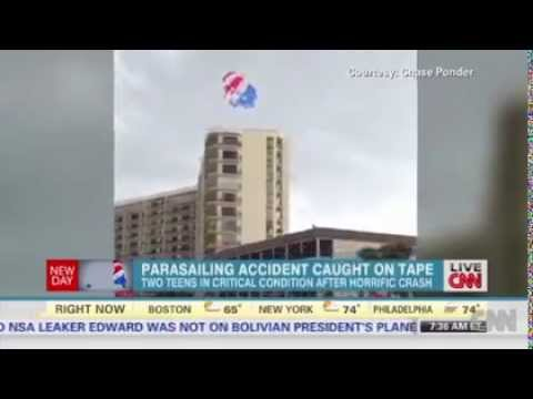 Parasailing accident caught on tape