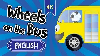 The Wheels on the Bus - town, beach, countryside | Nursery Rhyme Bus Song | Round and Round | 4K