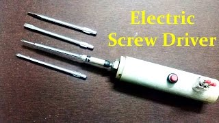 How to make an Electric Screwdriver at home - Easy way