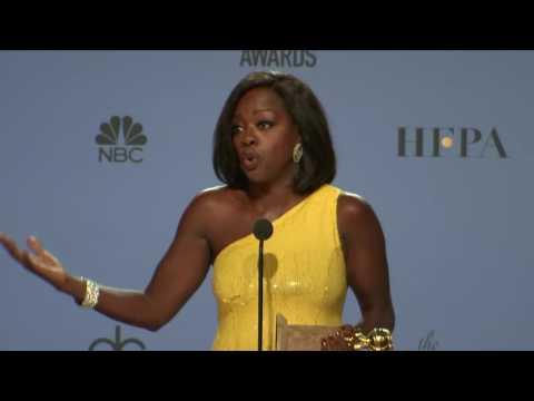 Viola Davis Golden Globes 2017 Full Backstage Interview